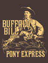 Buffalo Bill and the Pony Express t-shirt design