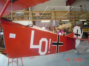 Side of Udet's aircraft, with LO! inscription